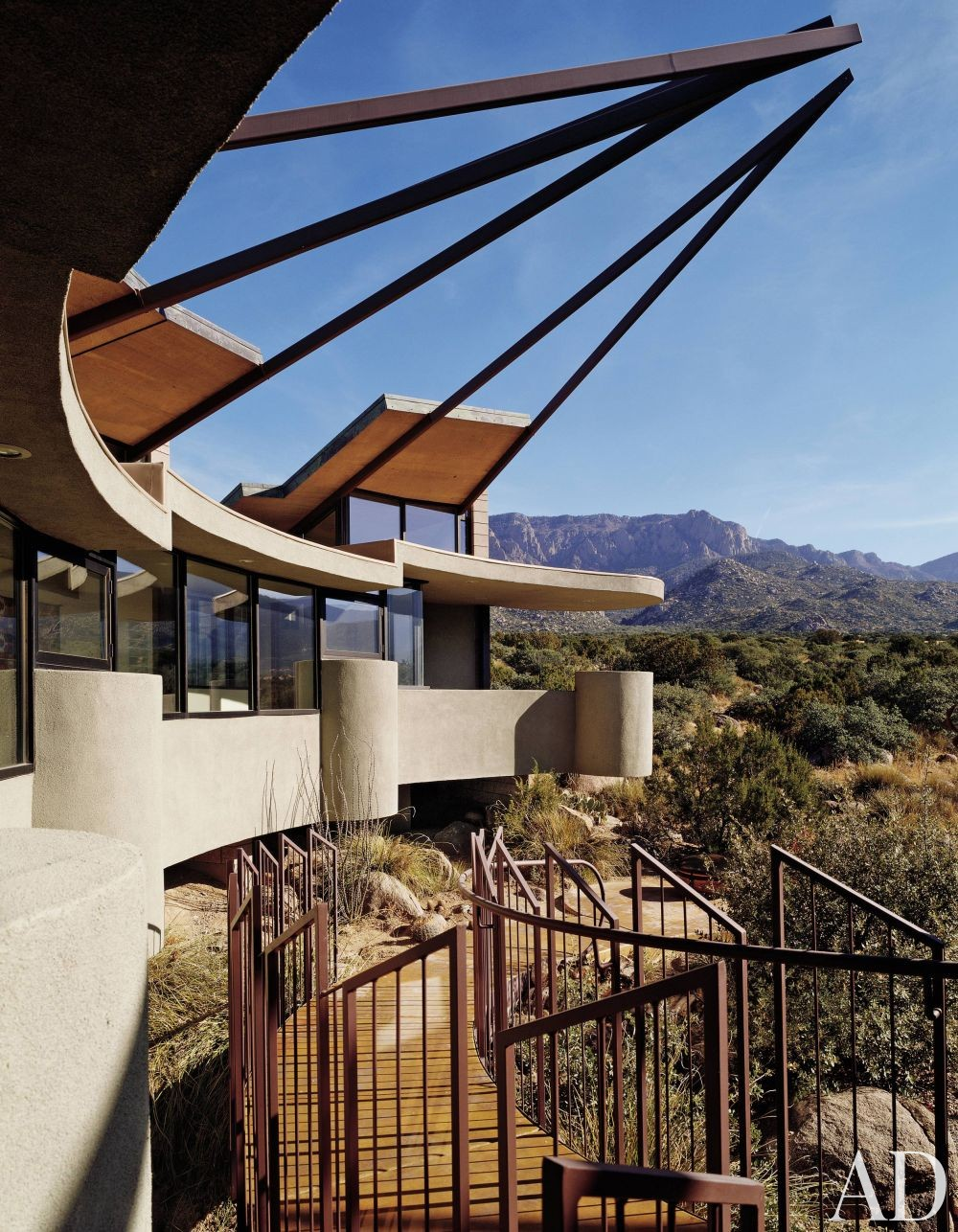 Contemporary outdoor space by bart prince architect by for Modern homes albuquerque