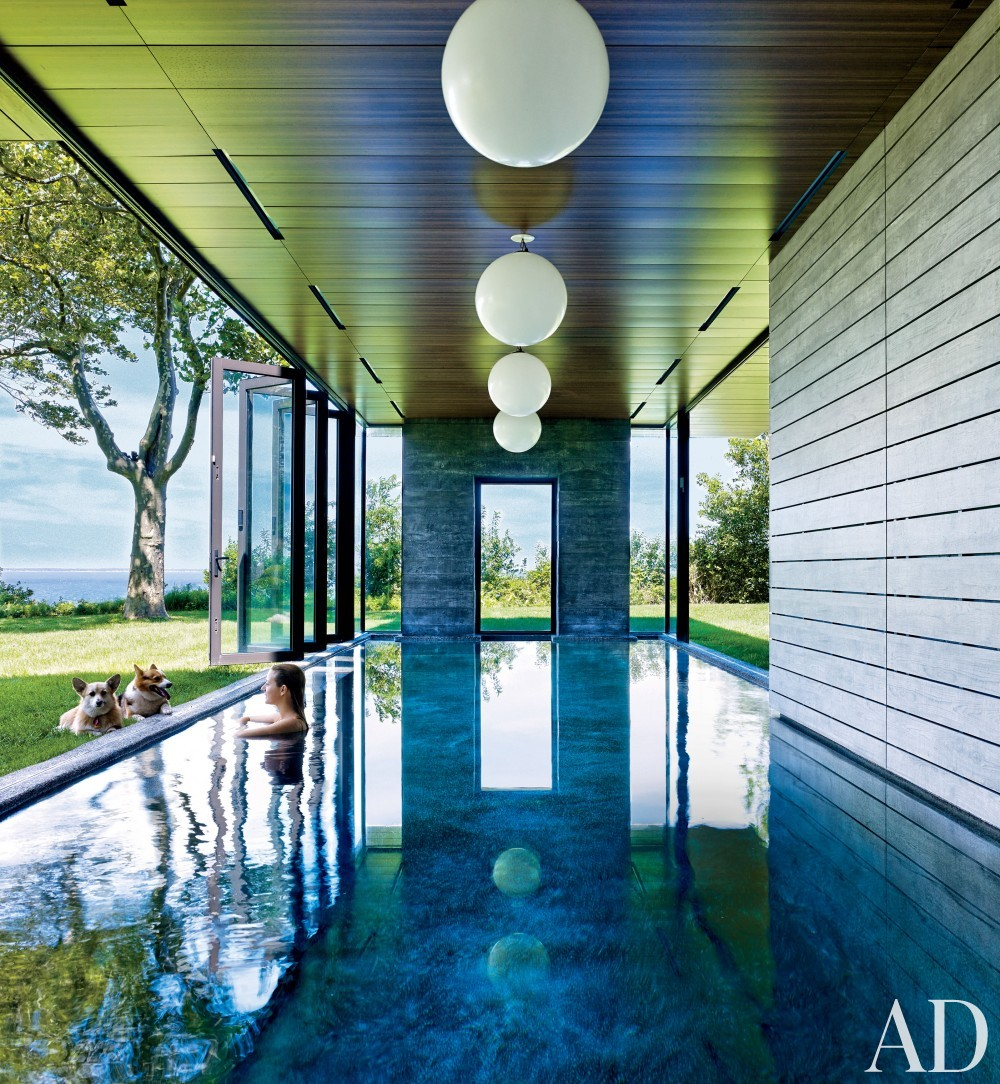 Contemporary Outdoor Space by Muriel Brandolini and Raffaella Bortoluzzi in Hampton Bays, New York