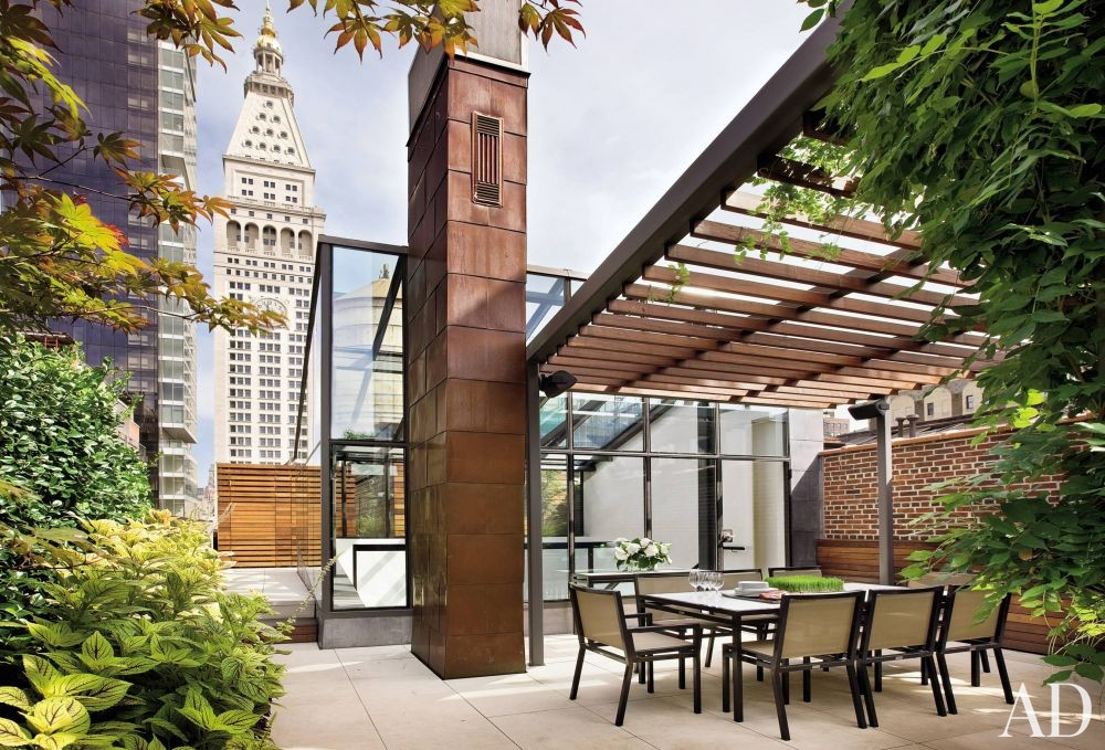 Contemporary Outdoor Space and Charles Rose in New York City