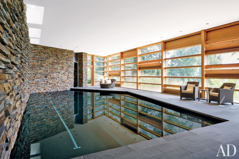 Contemporary Pool and Gluck+ in Blue Ridge Mountains, NC