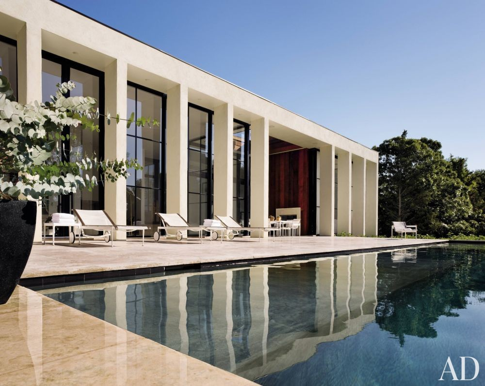 Contemporary pool by michael haverland by architectural for Pool design hamptons