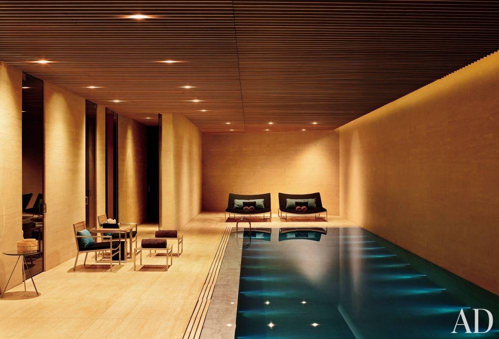 Contemporary Pool by Mlinaric, Henry & Zervudachi and Kengo Kuma & Associates in Japan