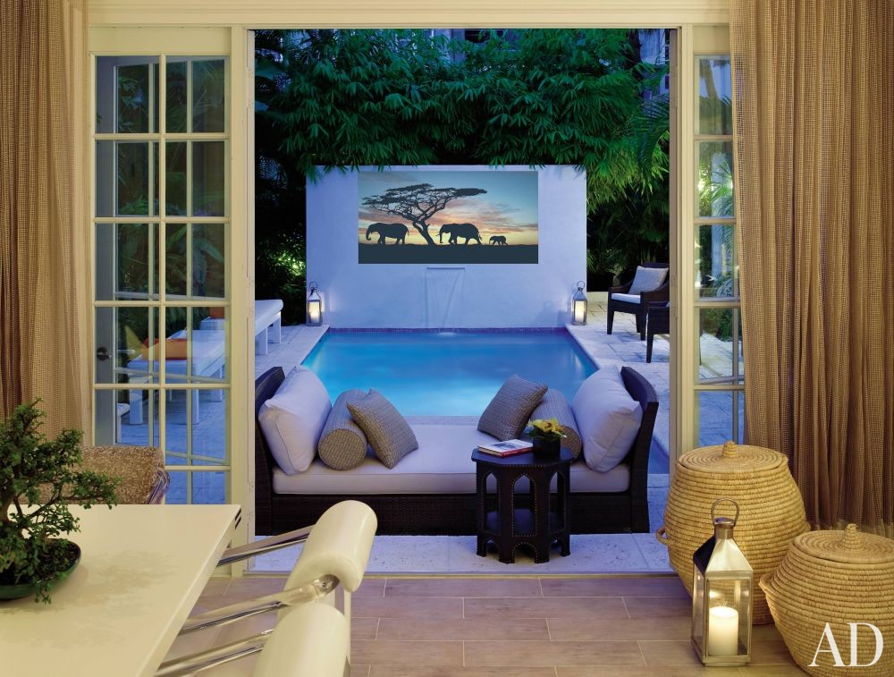 Contemporary Pool and Campion Platt in Palm Beach, Florida