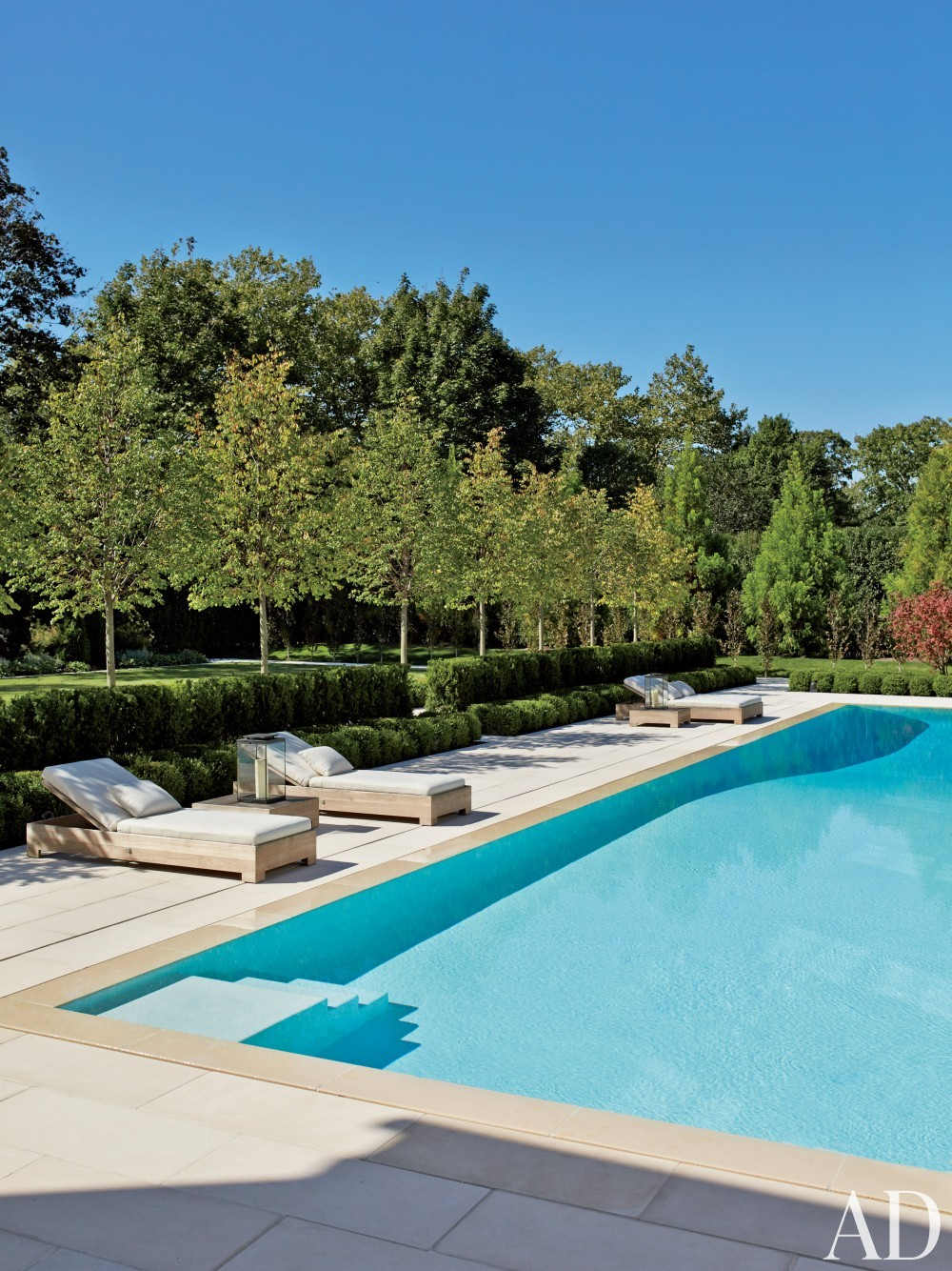Contemporary pool by sawyer berson by architectural for Hamptons pool design