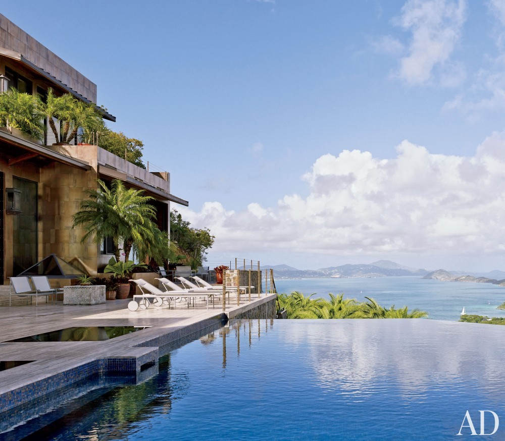 Contemporary Pool by Tony Ingrao and Randy Kemper in St. John, U.S. Virgin Islands