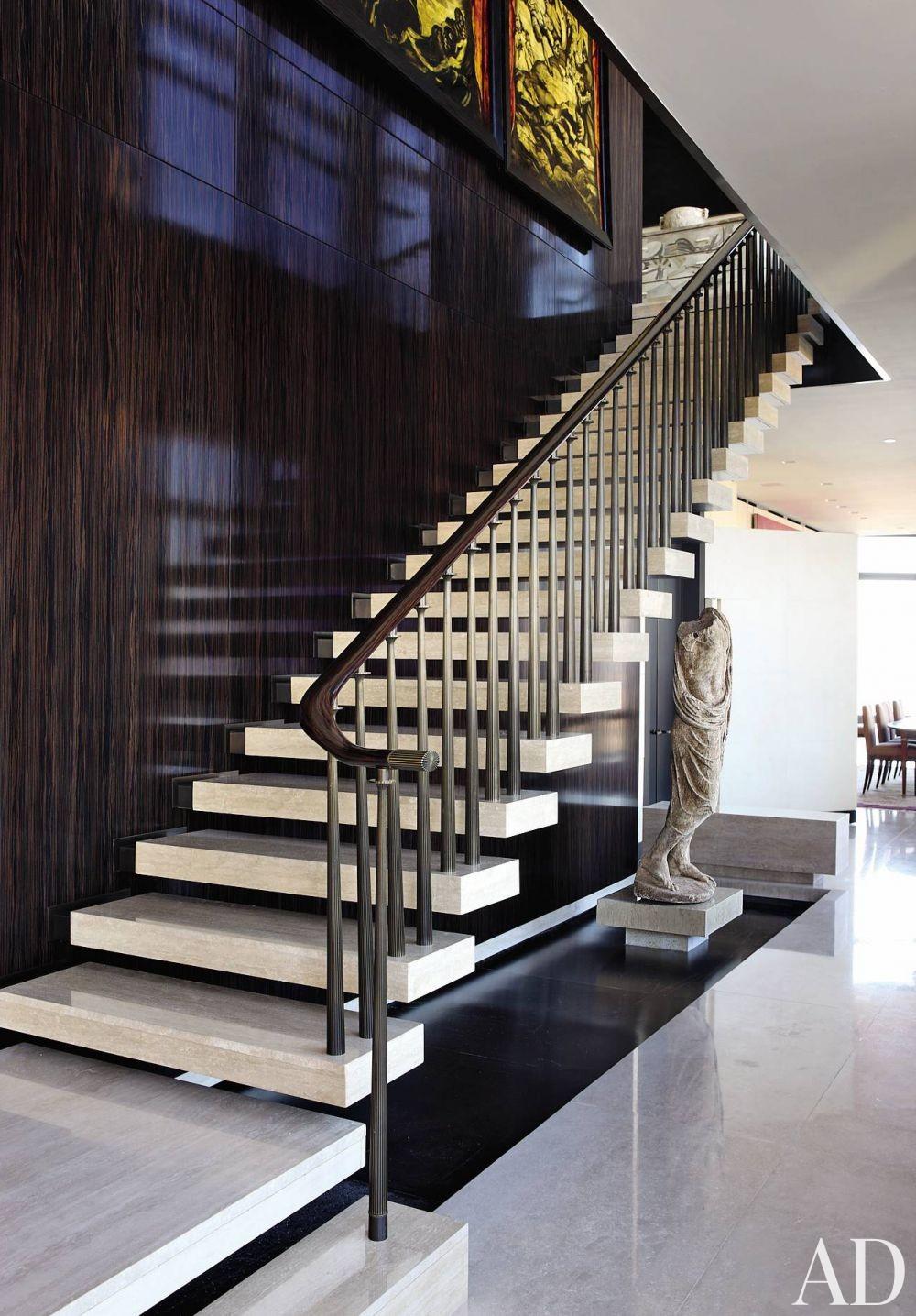 Contemporary Staircase/Hallway by Aparicio + Associates in New York City