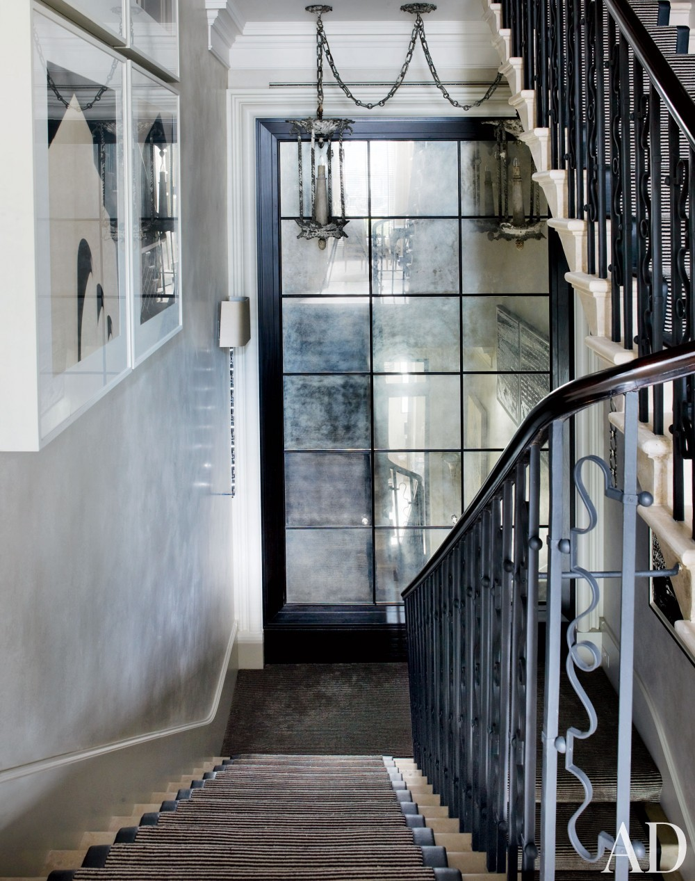 Contemporary Staircase/Hallway by Hubert Zandberg and Jan Swanepoel in London, England