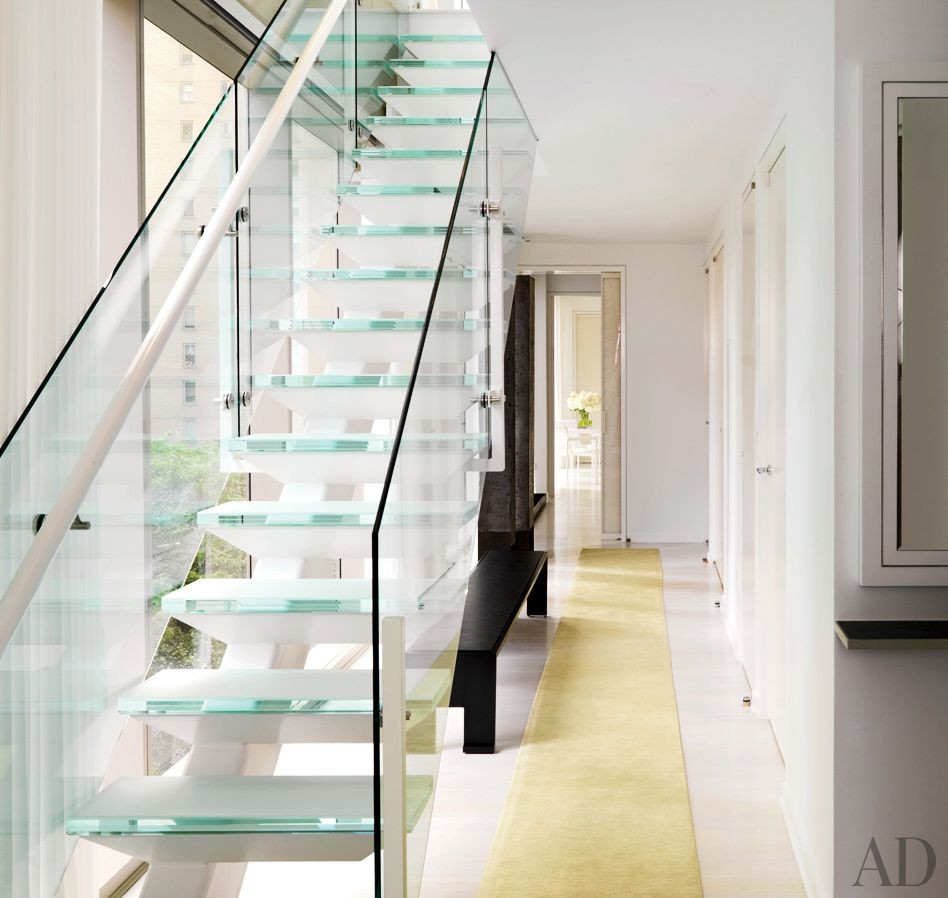 Contemporary Staircase/Hallway by Jennifer Post Design Inc. in New York, New York