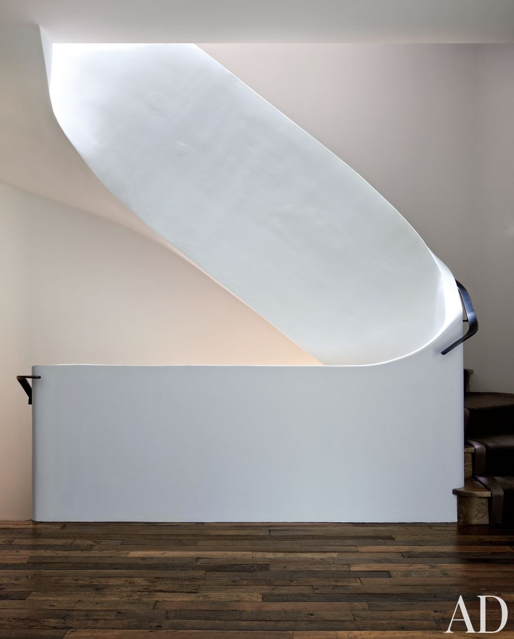 Contemporary Staircase/Hallway by Pamplemousse Design and Oliver Cope Architect in New York, New York
