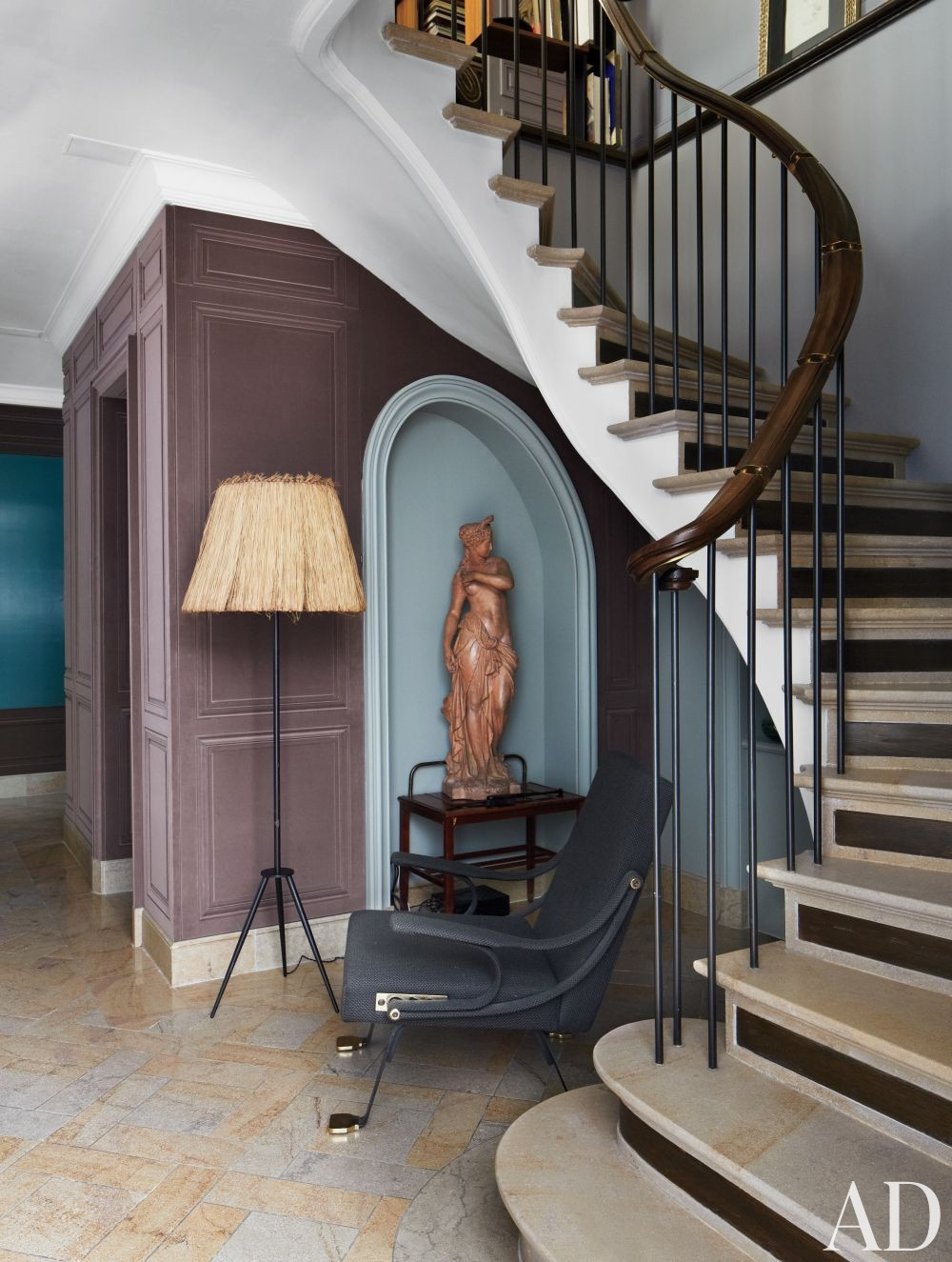 Contemporary Staircase/Hallway and Bruno Caron Architectes in Paris, France
