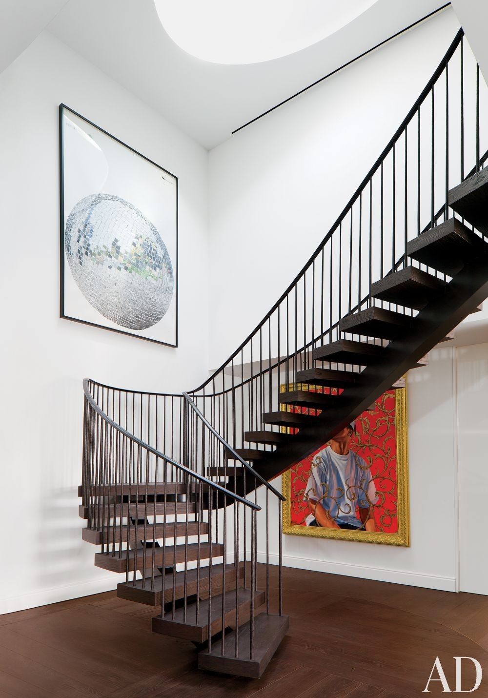Contemporary Staircase/Hallway by Waldo\'s Designs and Rios Clementi Hale Studios in Los Angeles, California