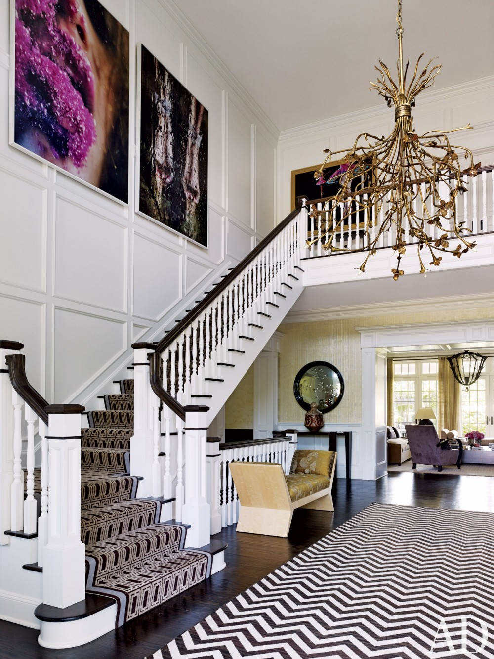 Contemporary staircase by Juan Montoya Design in Southampton, NY