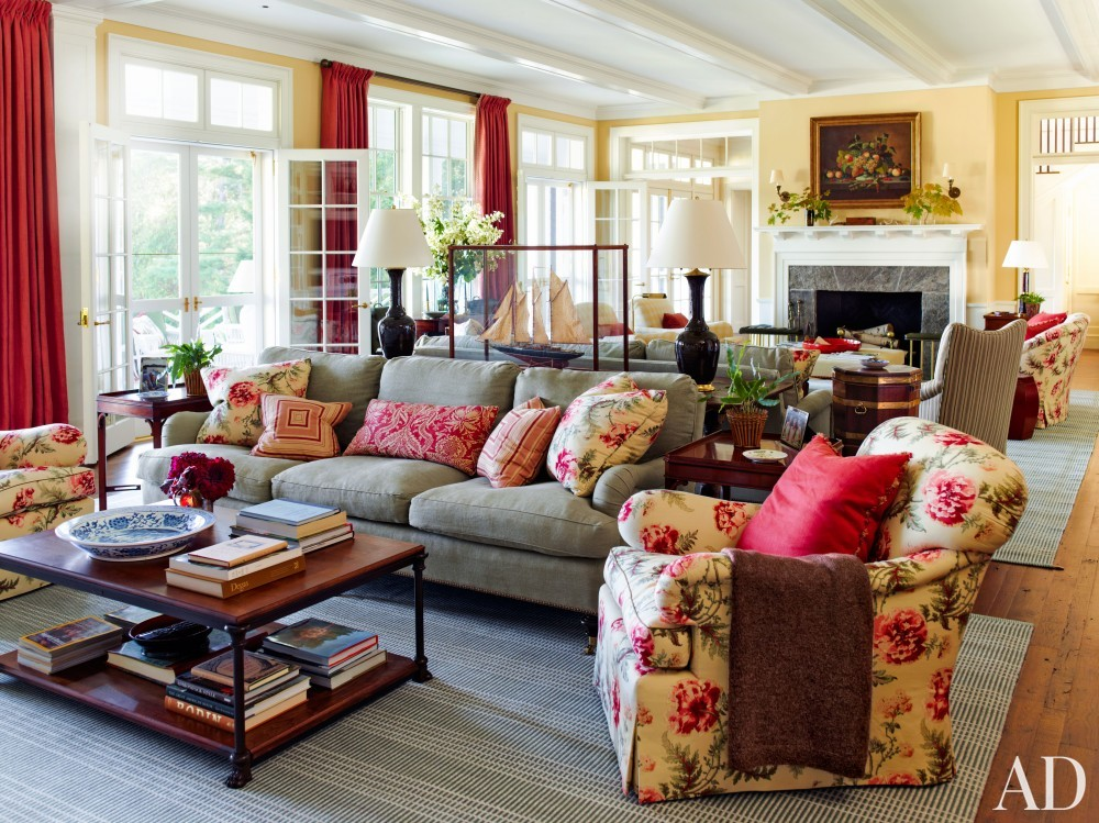 Traditional Living Room and G. P. Schafer Architect in Lake Placid, NY