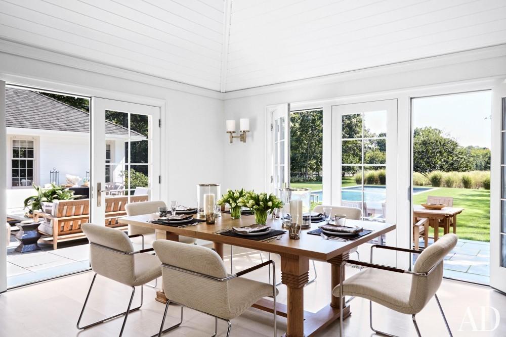 Modern Dining Room by David Kleinberg in East Hampton, NY