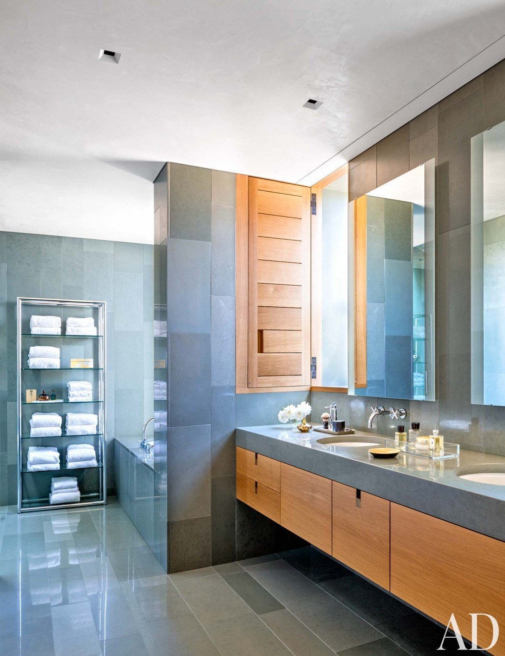 Contemporary Bathroom by Jan Showers and Marwan Al-Sayed in Arizona