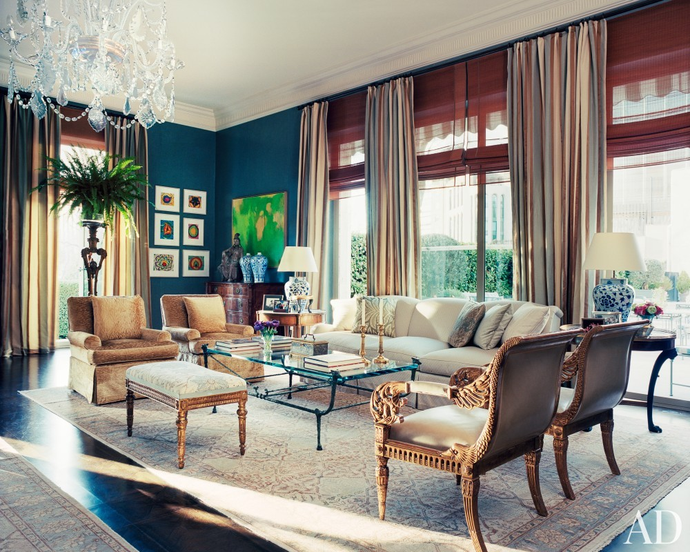 Living Room by Michael S. Smith in Madrid, Spain