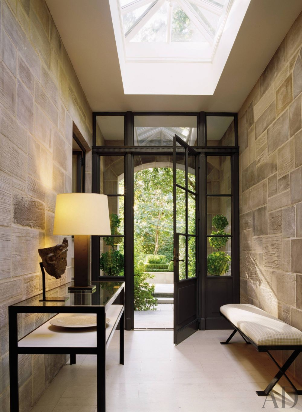 entrance hall by peter marino architect by architectural. Black Bedroom Furniture Sets. Home Design Ideas
