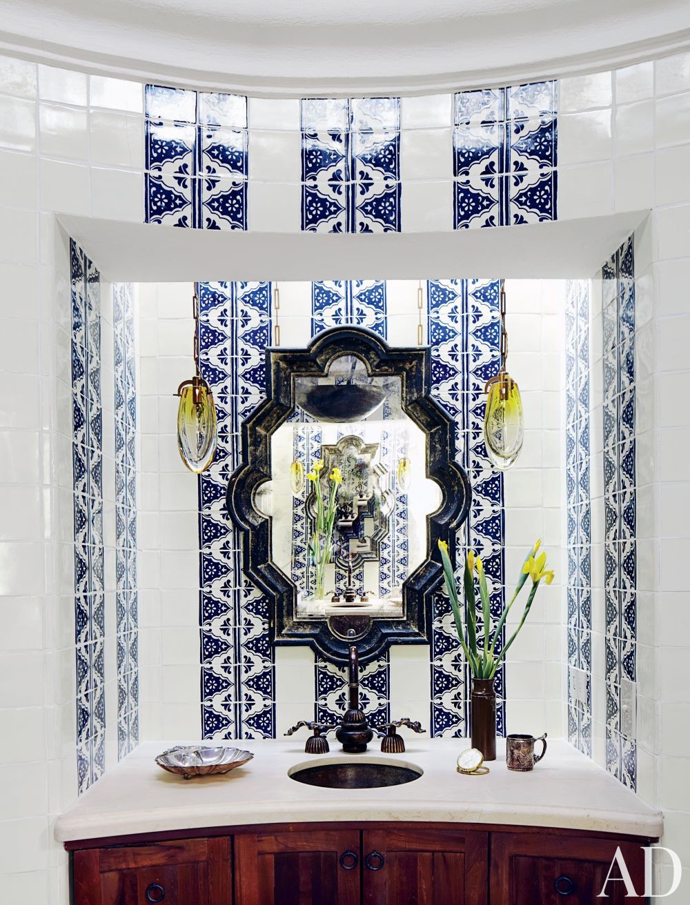 Exotic Bathroom by Fisher Weisman in San Miguel de Allende, Mexico
