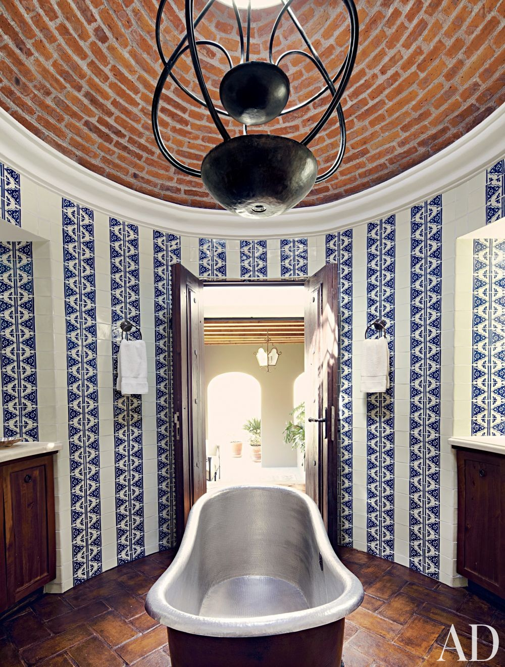 Exotic Bathroom by Fisher Weisman in San Miguel de Allende  Mexico. Exotic Bathroom by Fisher Weisman by Architectural Digest   AD
