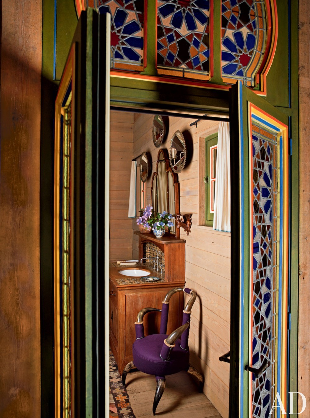 Exotic Bathroom by Jacques Grange and Jacques Grange in Normandy, France