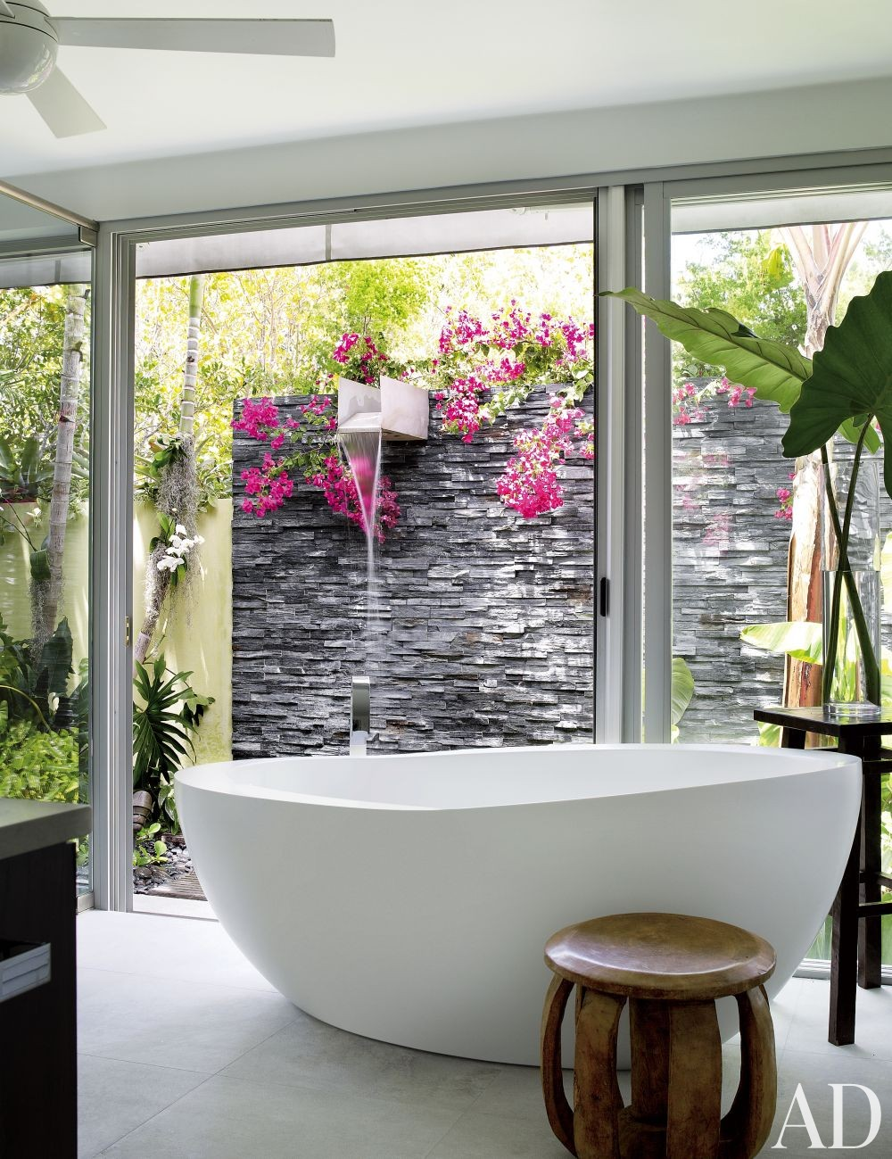 Exotic Bathroom by Malcolm James Kutner Inc. and Thomas E. Pope in Key West, FL