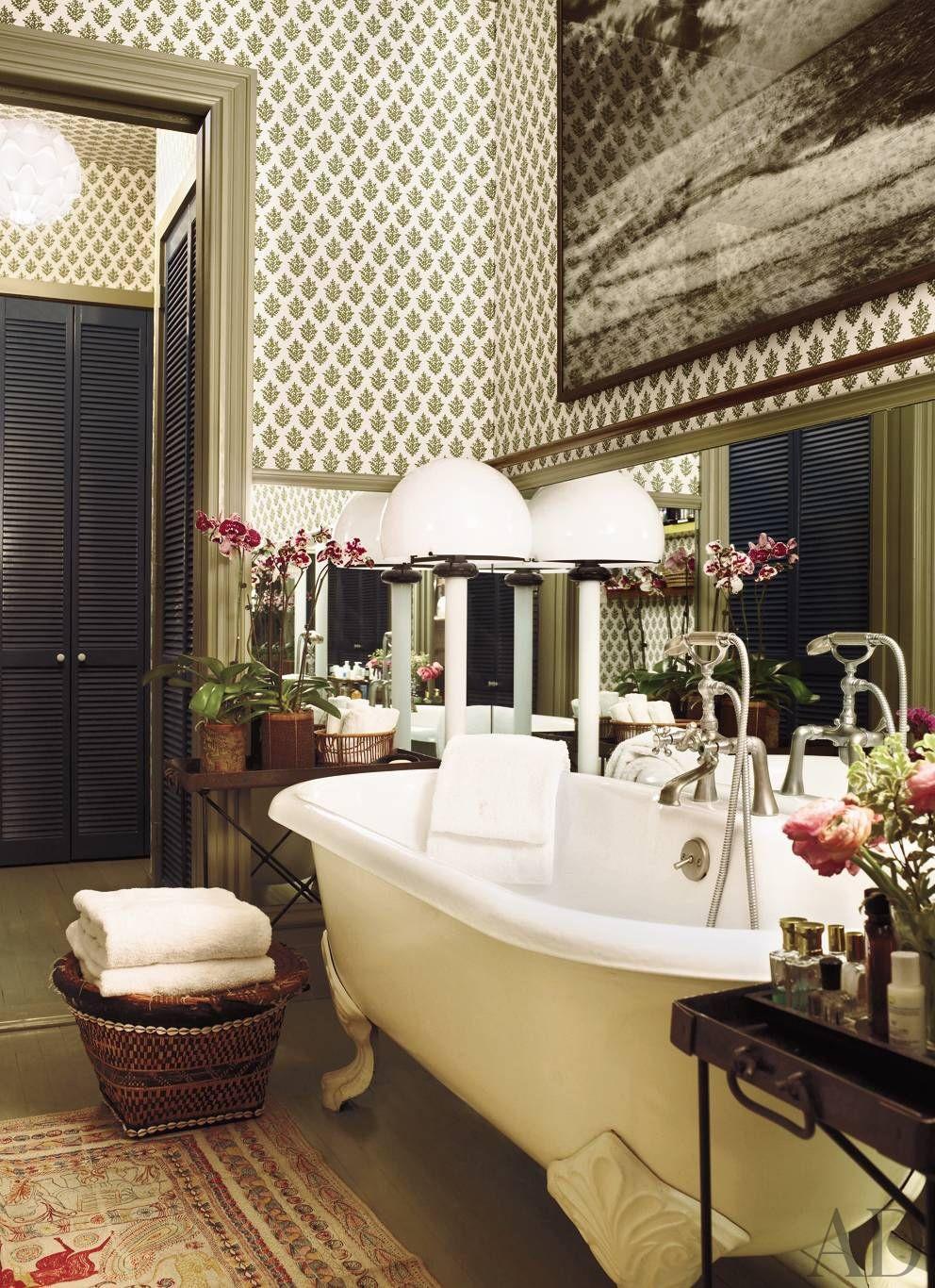 Exotic Bathroom by Muriel Brandolini in New York City