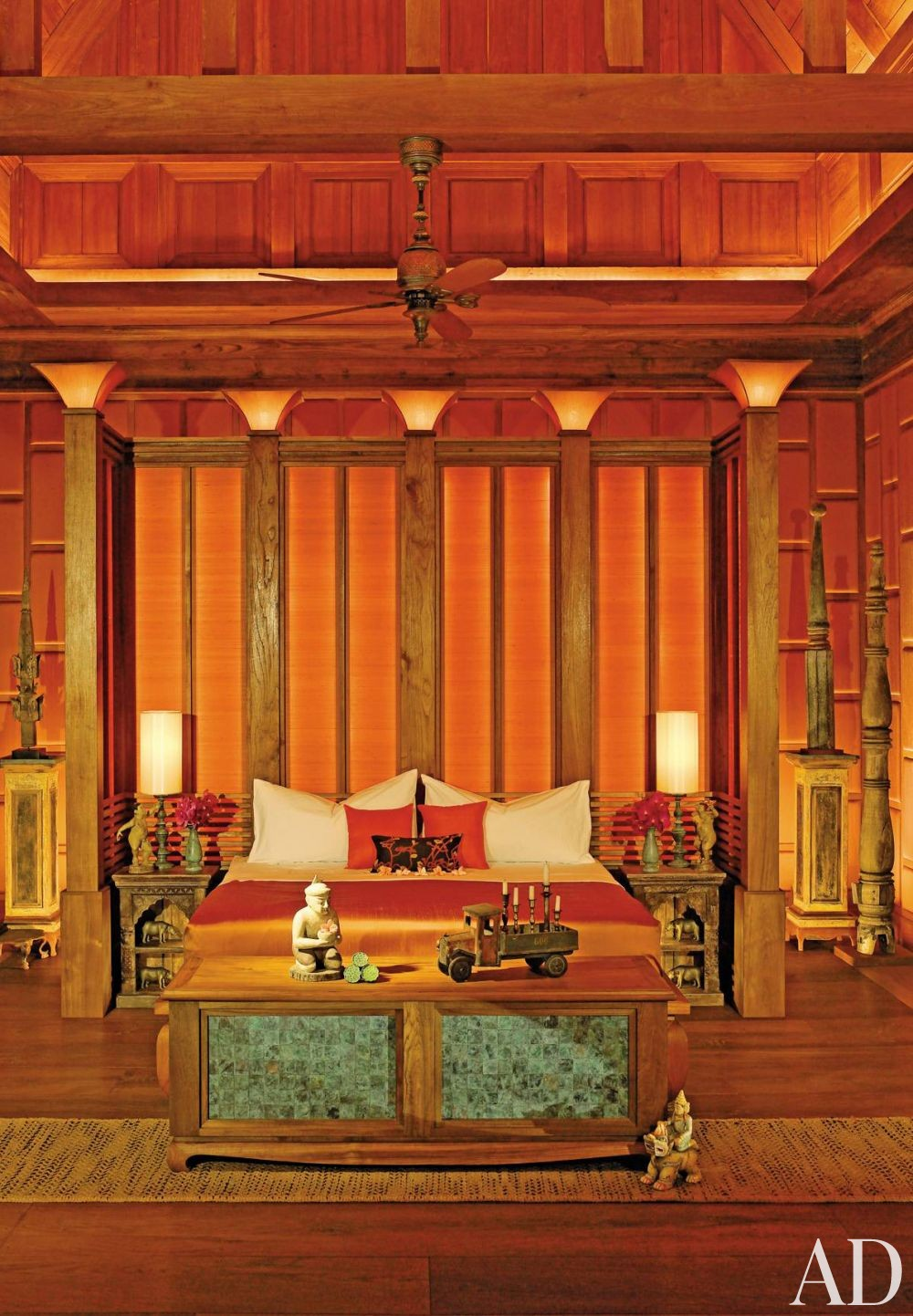 exotic bedroom by bensley design studios by architectural