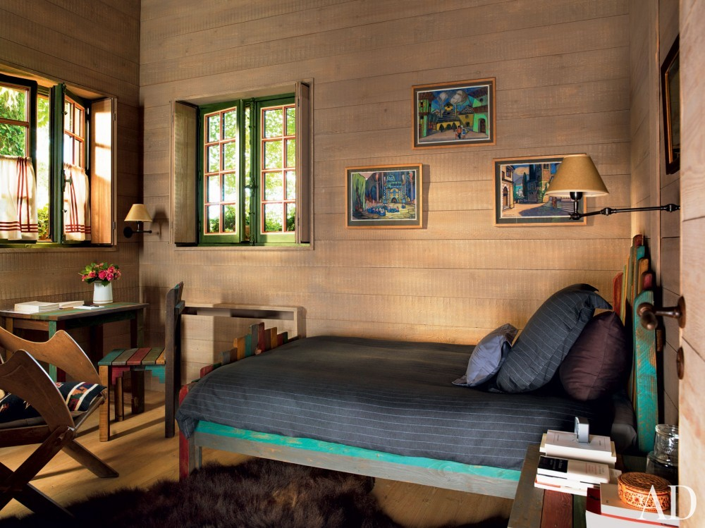 Exotic Bedroom by Jacques Grange and Jacques Grange in Normandy, France
