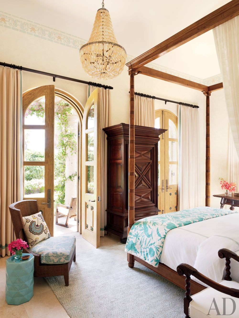 exotic bedroom by marshall watson interiors by architectural digest