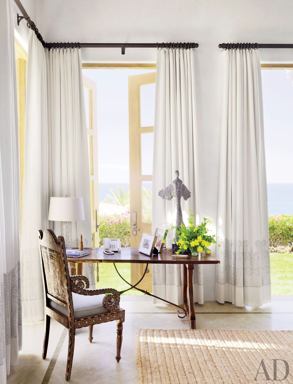 Exotic Bedroom by Marshall Watson Interiors and Stephen Morgan Architect in San José del Cabo, Mexico