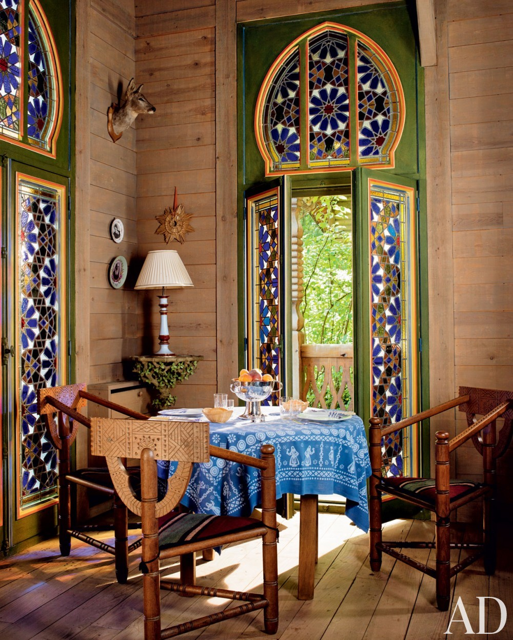 Exotic Dining Room by Jacques Grange and Jacques Grange in Normandy, France