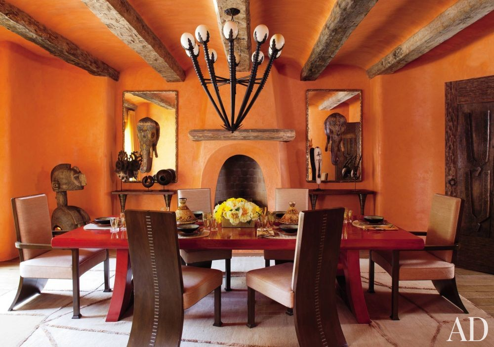 Exotic Dining Room by Judith Lance and Stephen Samuelson in Calabasas, California