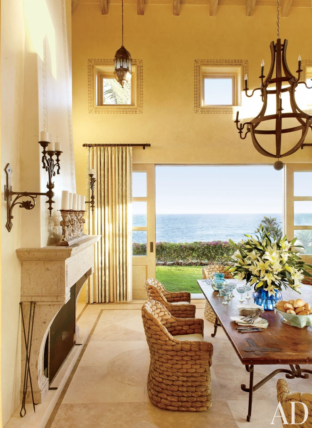 Exotic Dining Room By Marshall Watson Interiors By