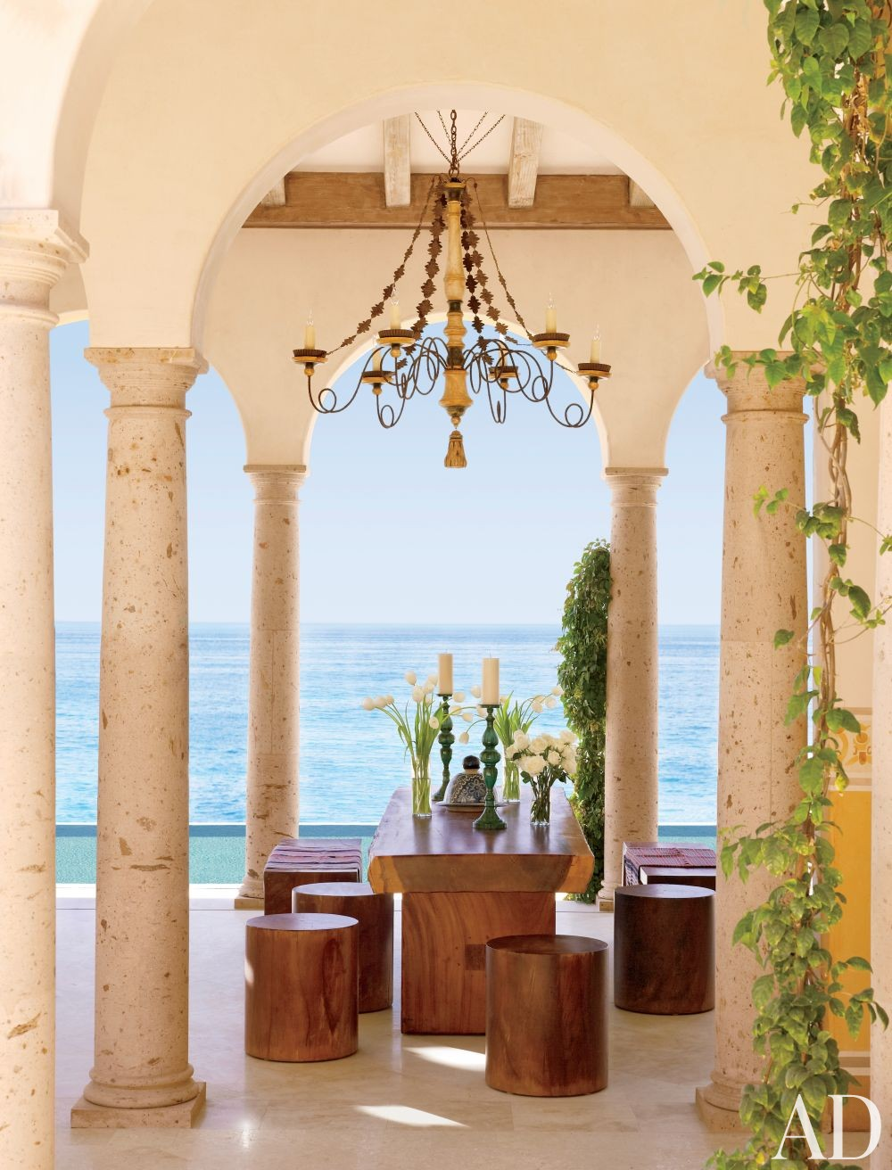 Exotic Dining Room by Marshall Watson Interiors and Stephen Morgan Architect in San José del Cabo, Mexico
