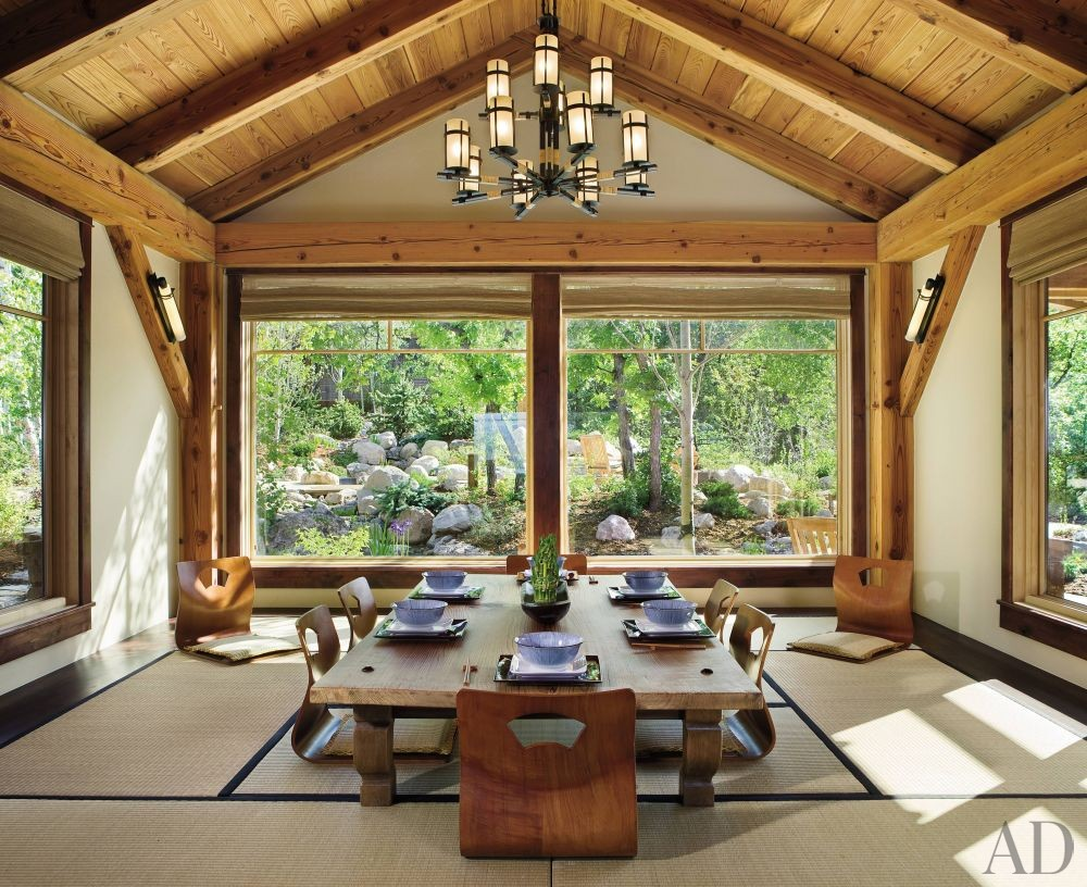 Exotic Dining Room by Trilogy Partners in Steamboat Springs, Colorado