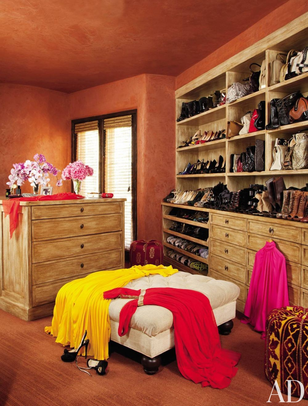 Exotic Dressing Room/Closet by Judith Lance and Stephen Samuelson in Calabasas, California