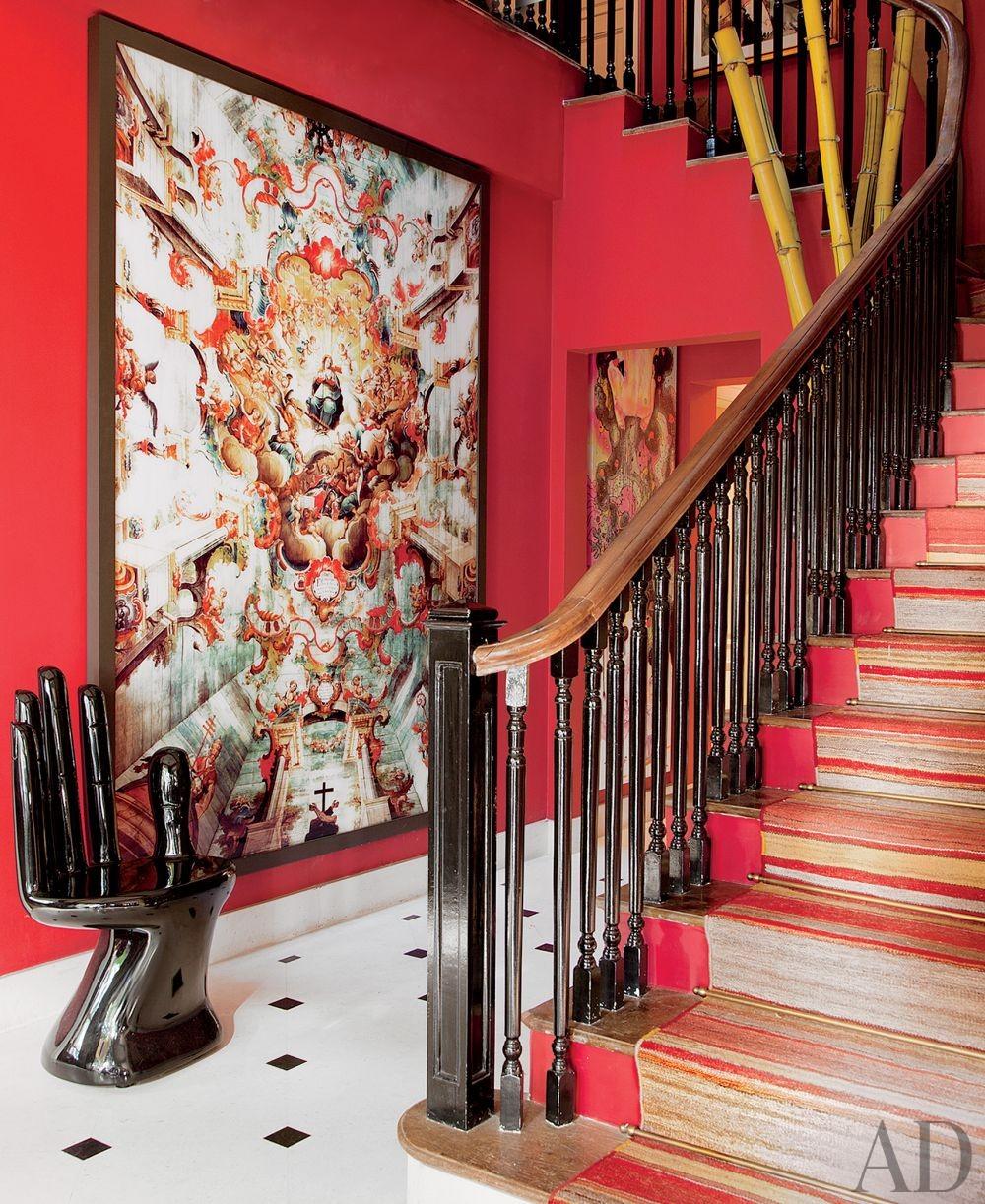 Exotic Entrance Hall by Sig Bergamin in São Paulo, Brazil