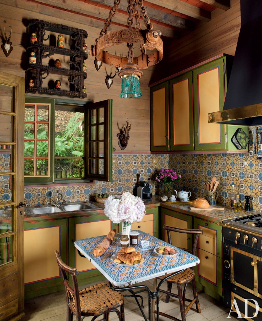 Exotic Kitchen by Jacques Grange and Jacques Grange in Normandy, France