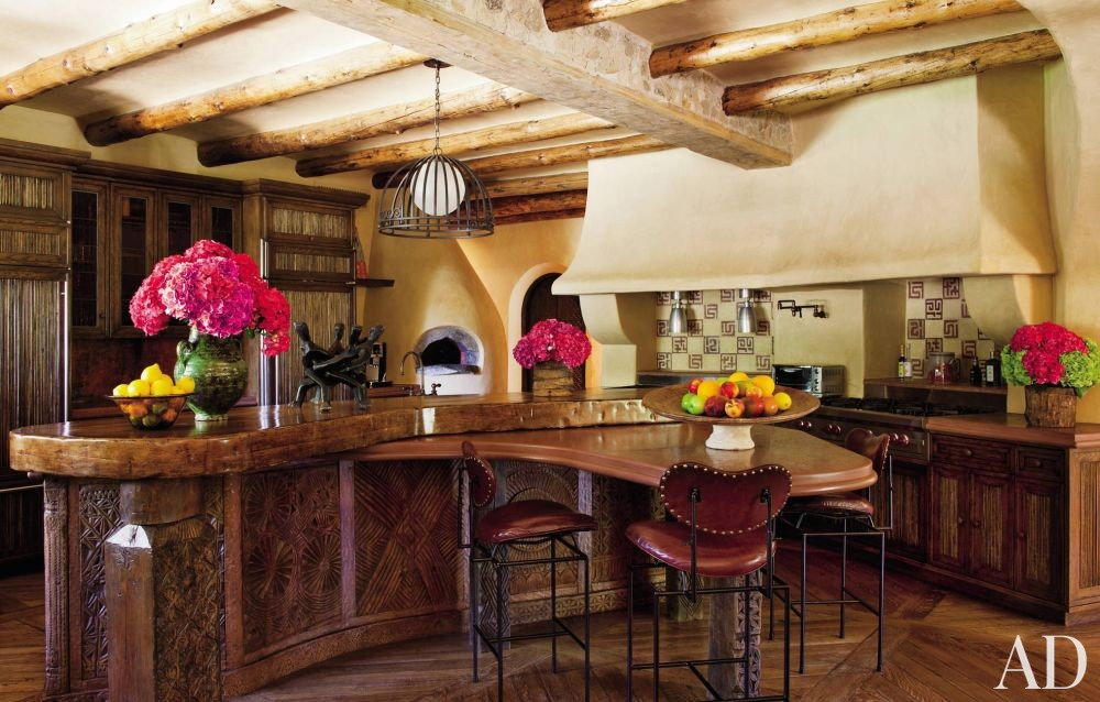 Exotic Kitchen by Judith Lance and Stephen Samuelson in Calabasas, California