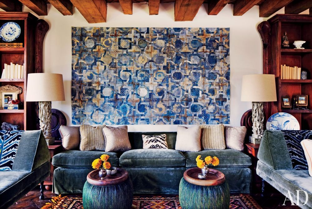 Exotic Living Room by Andrew Fisher and Jeffry Weisman in San Miguel de Allende, Mexico