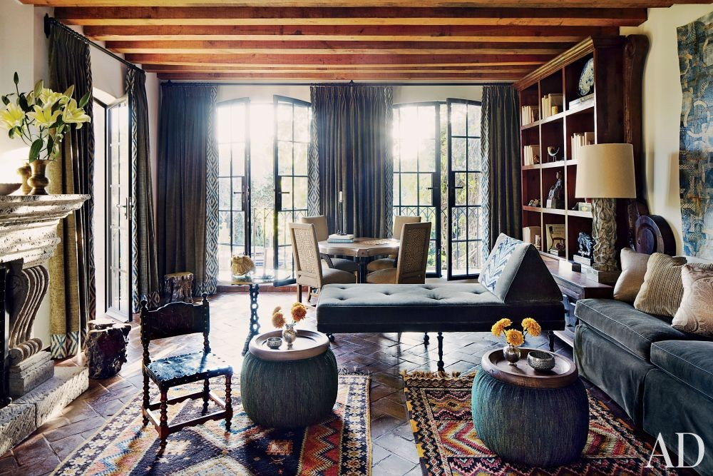 Exotic Living Room by Fisher Weisman in San Miguel de Allende, Mexico