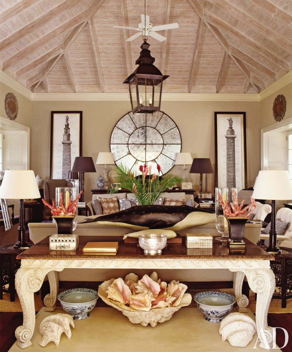 Exotic Living Room By Grant White By Architectural Digest