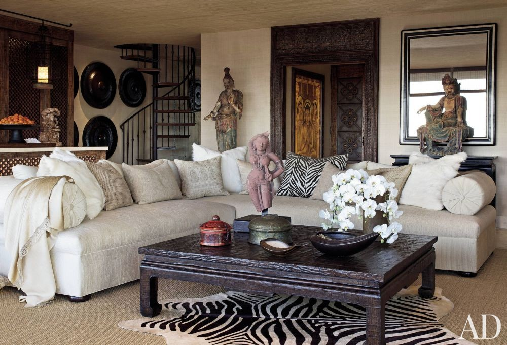 Exotic Living Room by Martyn Lawrence Bullard Design in Los Angeles, California