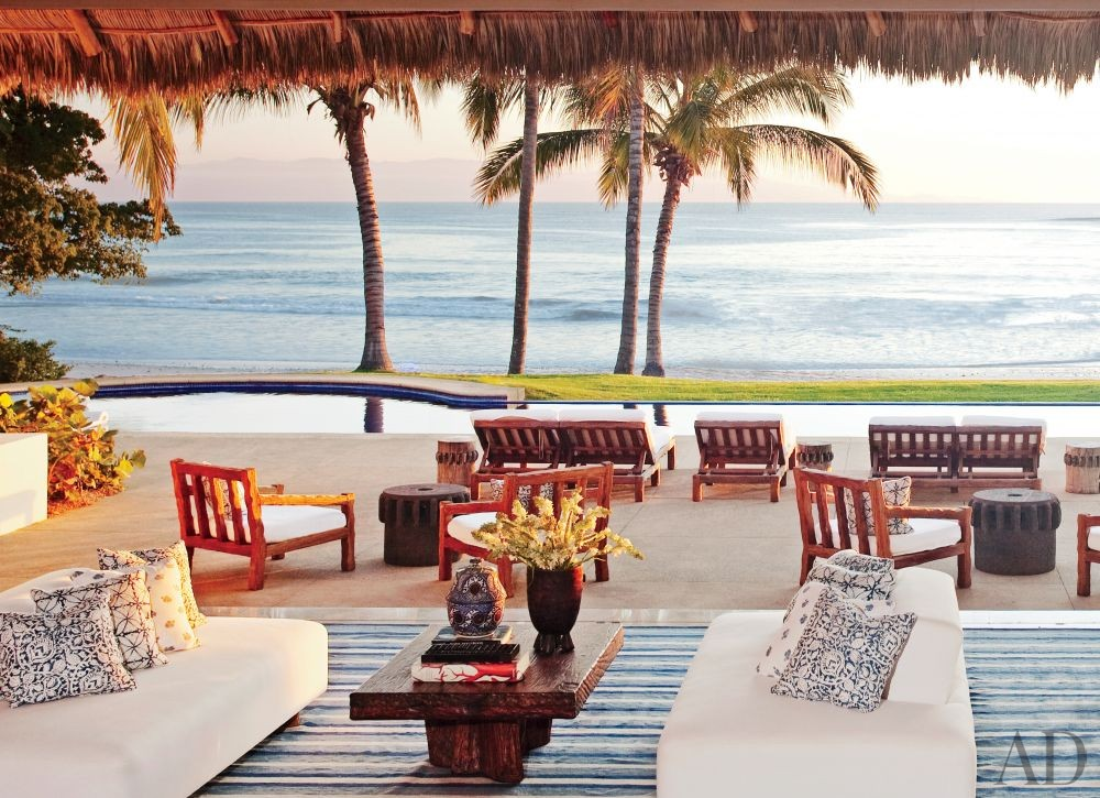 Exotic Living Room by Martyn Lawrence Bullard in Punta Mita, Mexico