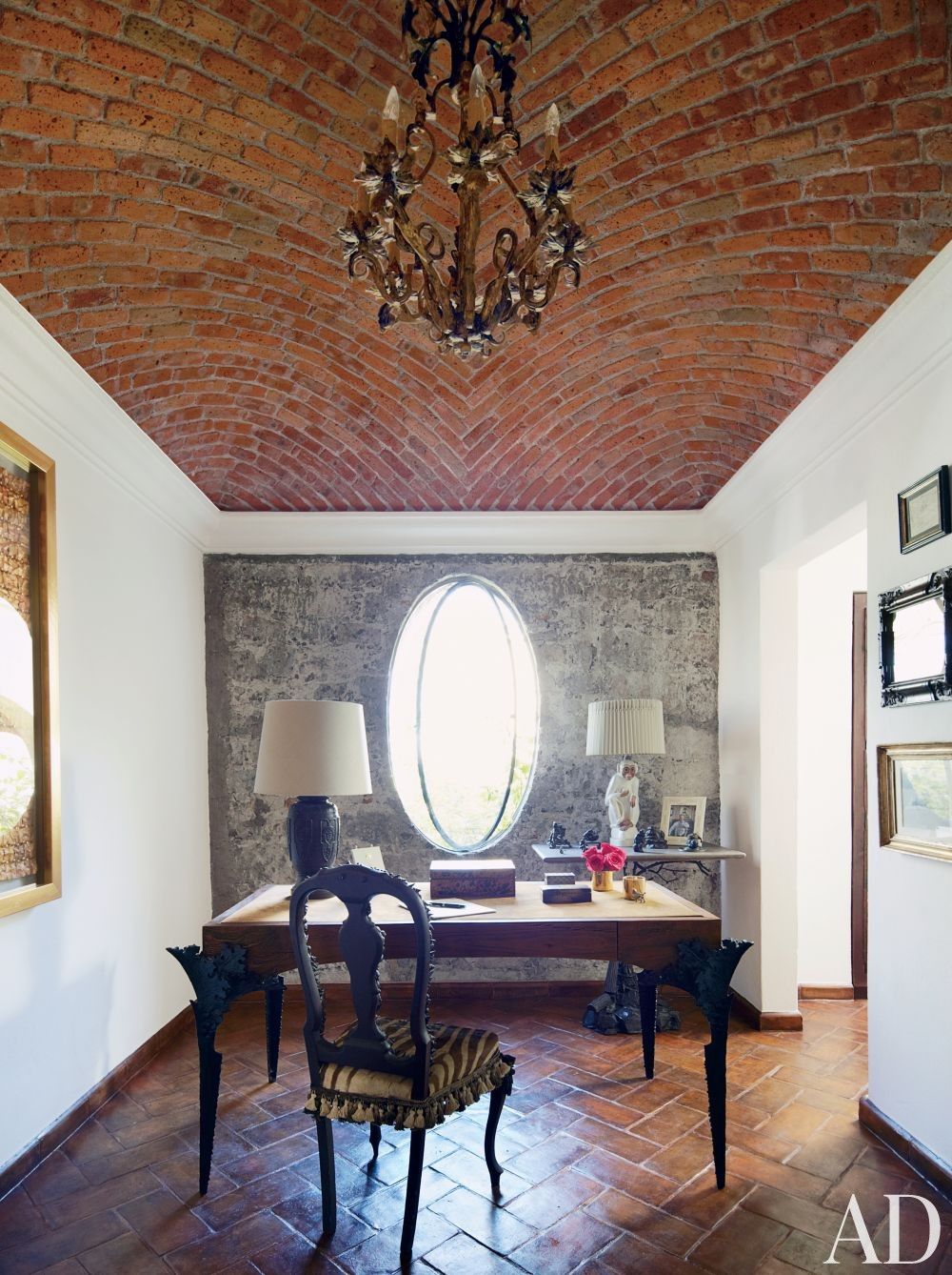 Exotic Office/Library by Fisher Weisman in San Miguel de Allende, Mexico