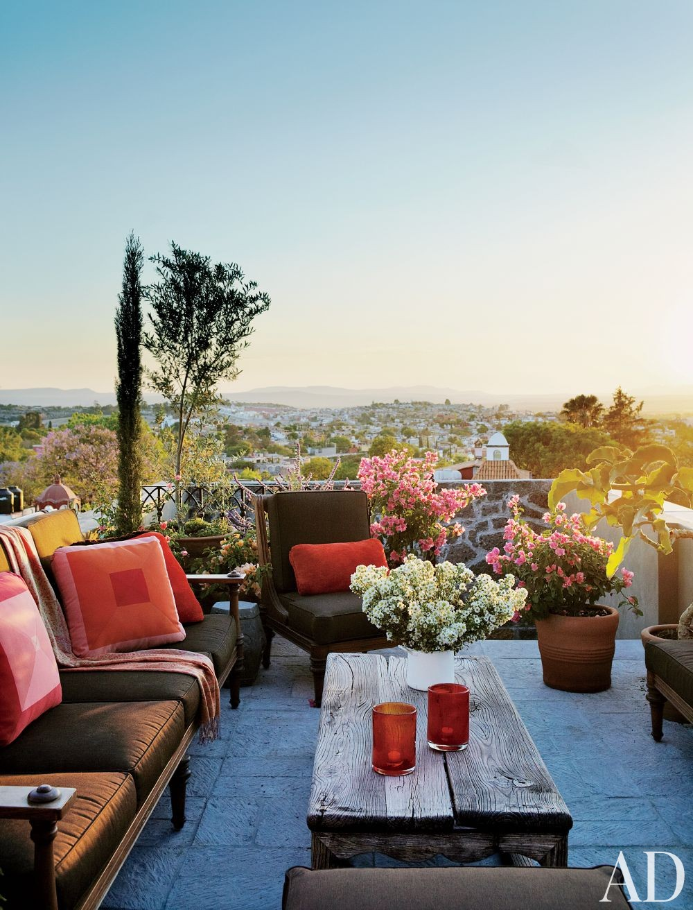 Exotic Outdoor Space by Fisher Weisman in San Miguel de Allende, Mexico