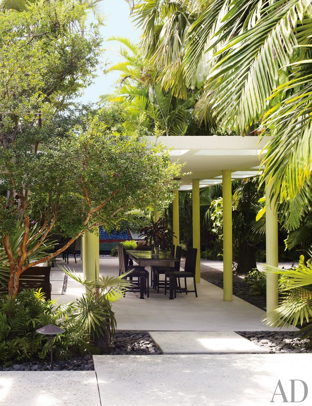 Exotic Outdoor Space by Malcolm James Kutner Inc. and Thomas E. Pope in Key West, Florida