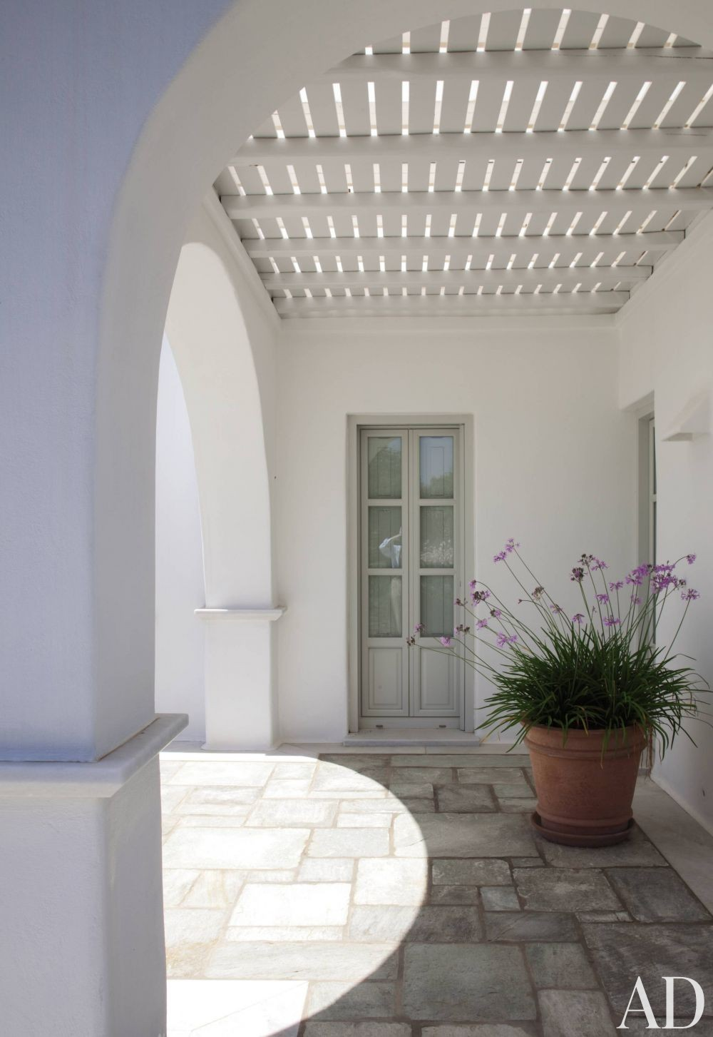 Exotic Outdoor Space by Mark Gaudette and Torsten Bessel in Paros, Greece