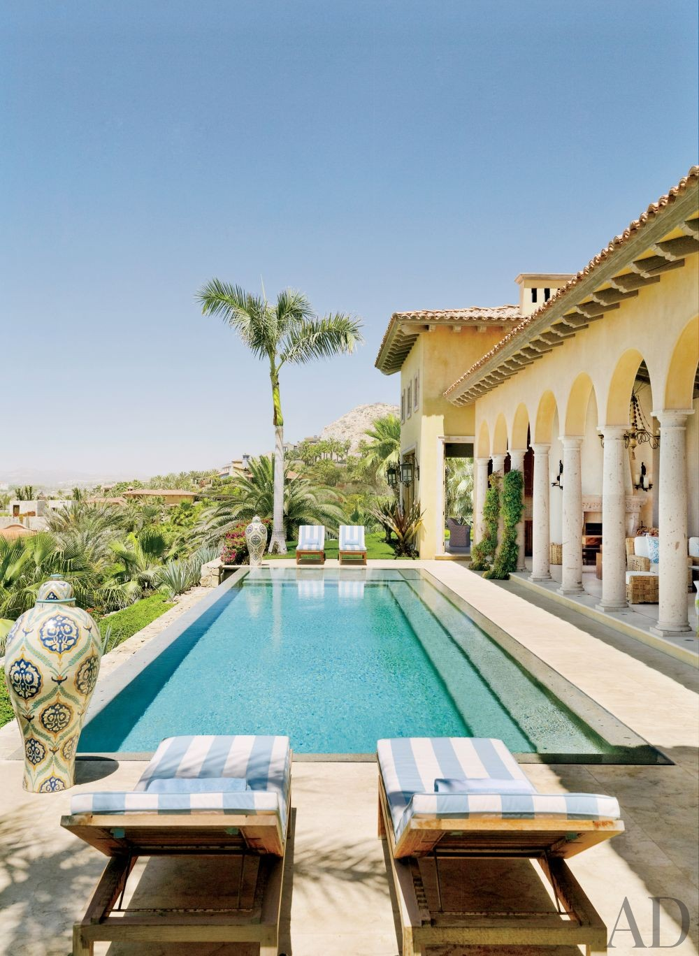 Exotic Pool by Marshall Watson Interiors and Stephen Morgan Architect in San José del Cabo, Mexico
