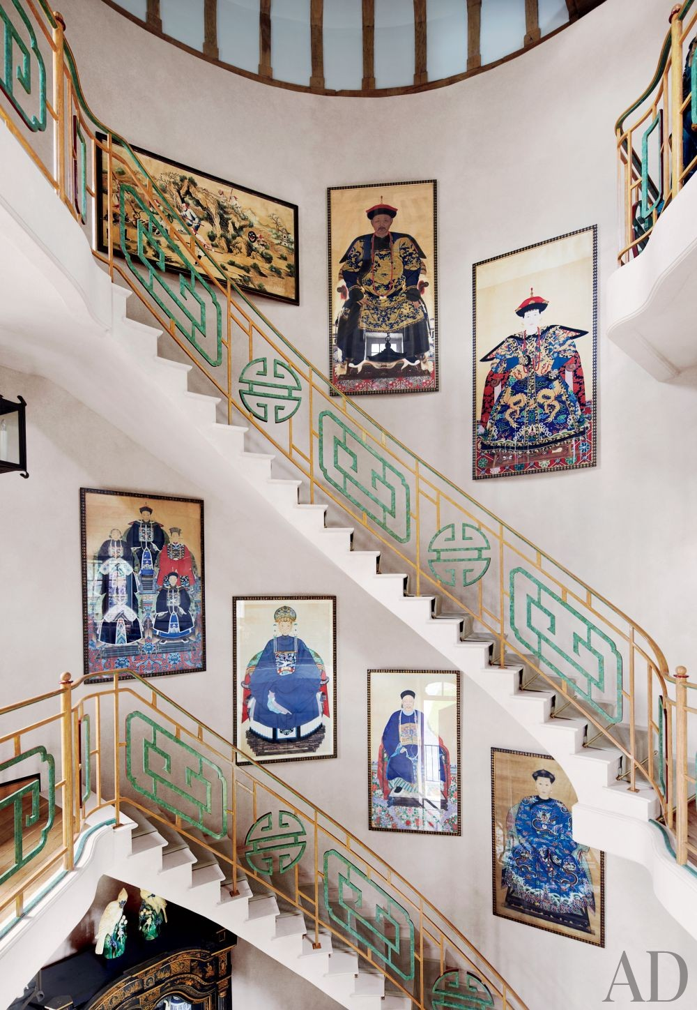 Valentino\'s Exotic Staircase/Hallway in France
